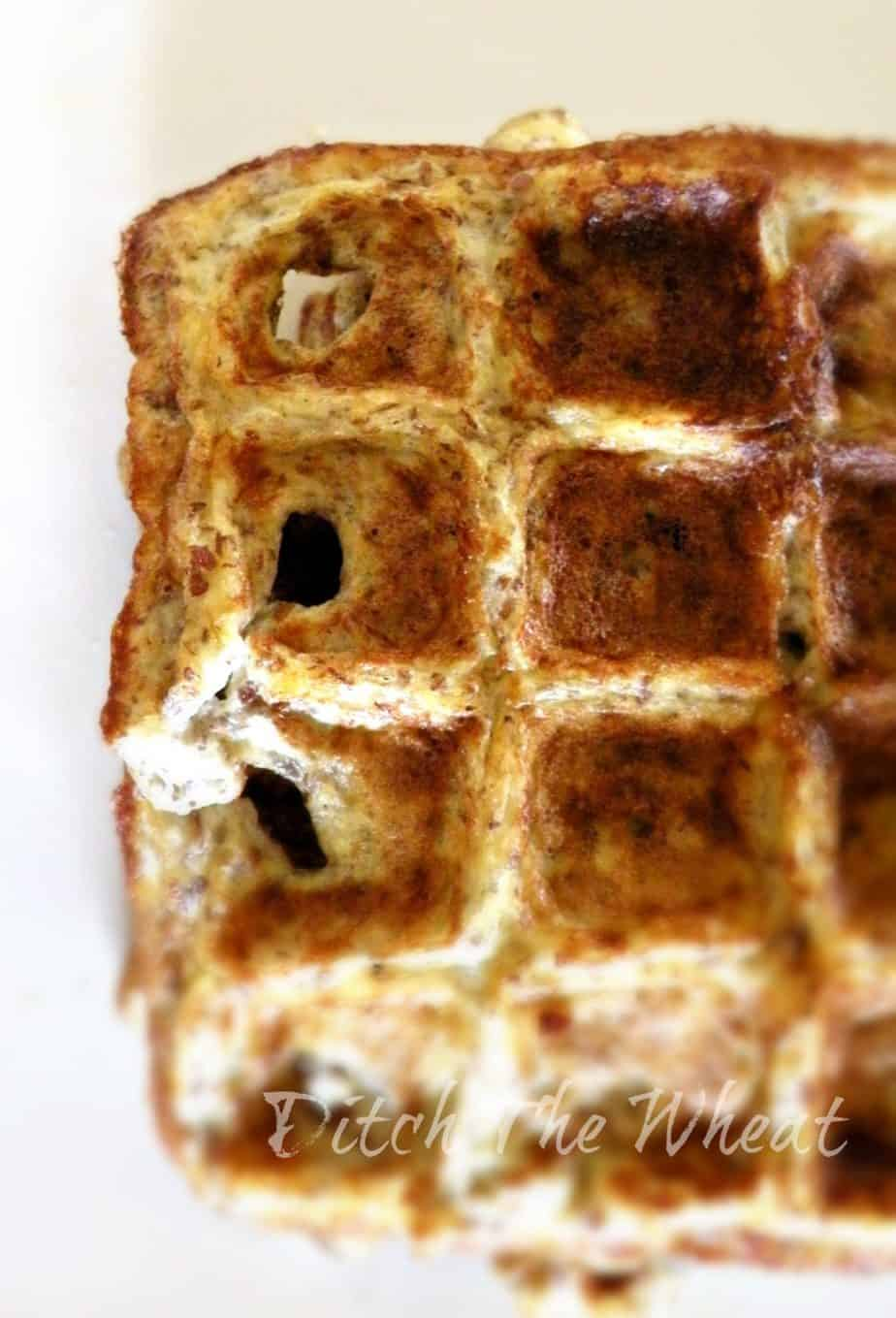 Banana Waffles (Low Carb & Gluten Free) | Ditch The Wheat