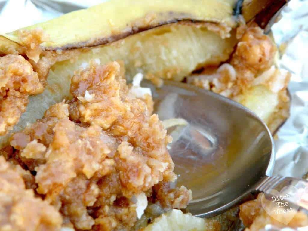 Baked Banana Split | Ditch The Wheat