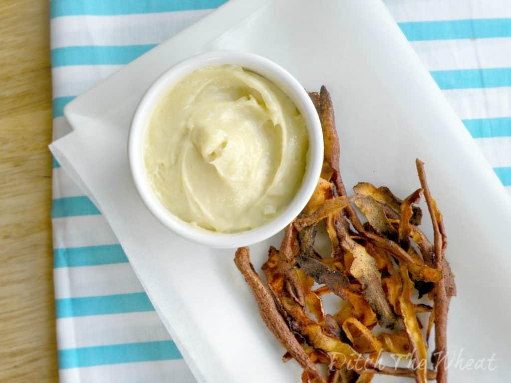 Sweet Potato Skins and Homemade Aioli | Ditch The Wheat