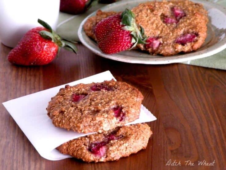 Paleo Strawberry Breakfast Cookies