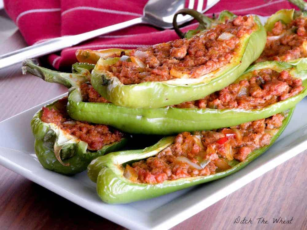 Paleo Stuffed Hot Peppers