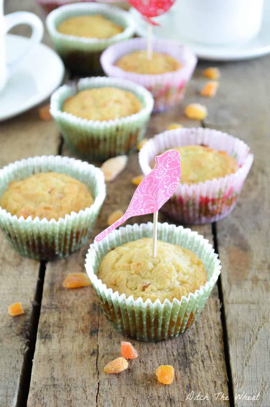 Grain Free Apricot Muffins