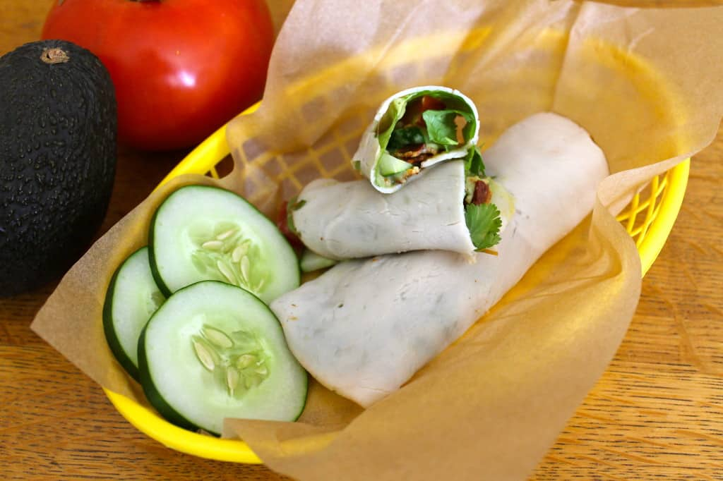 Paleo Turkey Roll-Ups with Avocado Dressing