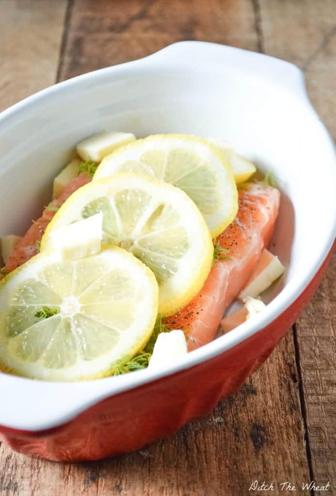 Baked Lemon Dill Salmon (raw)