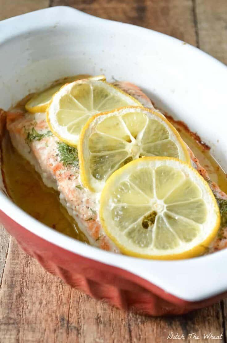 Baked Lemon Dill Salmon