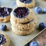Blueberry Jam Thumbprint Cookies