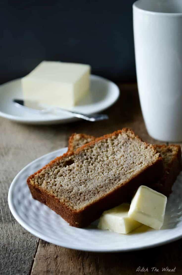 Coconut Flour Banana Bread, gluten free banana bread, gluten free banana bread coconut flour, keto banana bread, low carb banana bread, paleo banana bread, paleo banana bread coconut flour, grain free banana bread, healthy banana bread