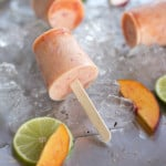 Mini Nectarine & Ginger Popsicles