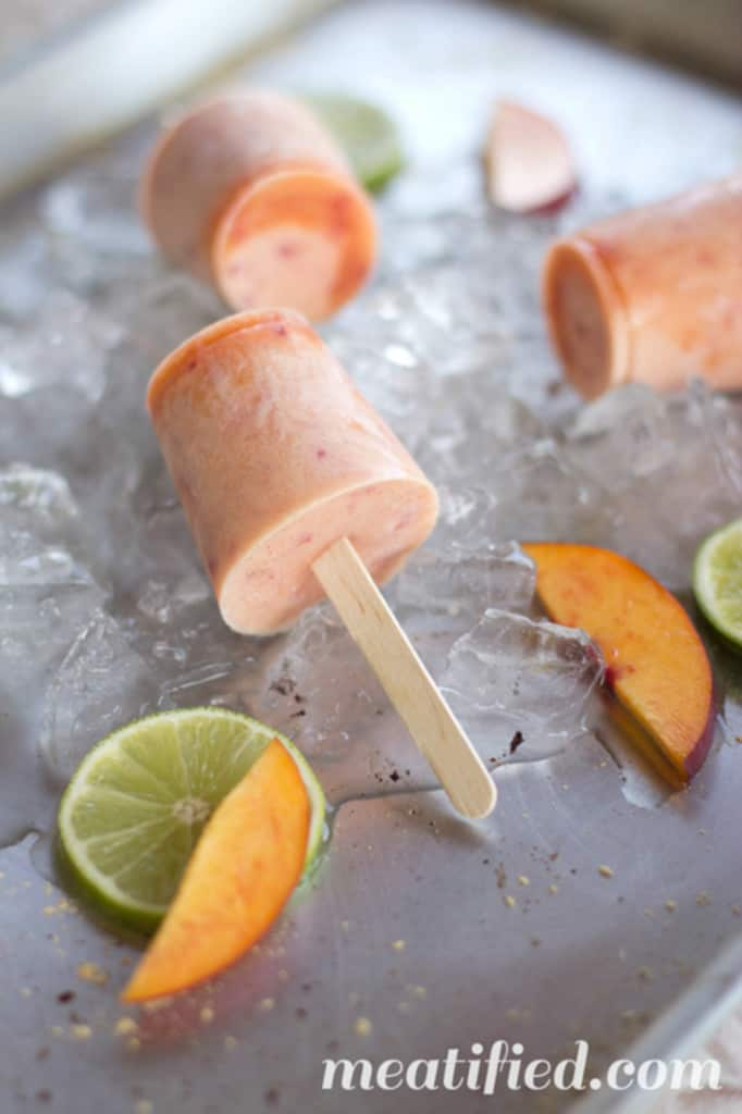 Nectarine and Ginger Popsicles