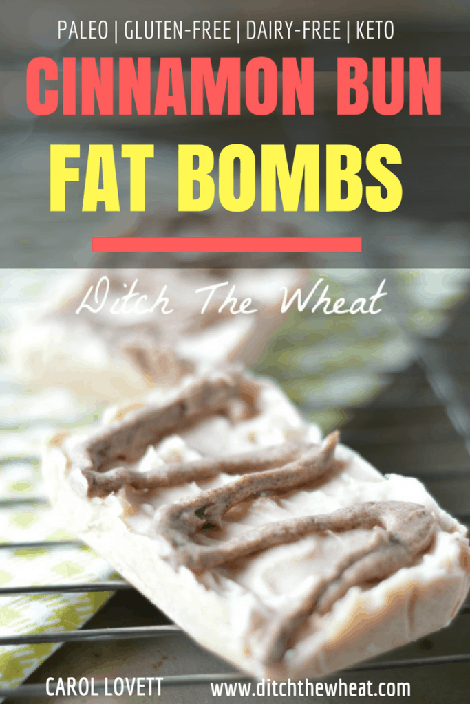 CINNAMON FAT BOMB BARS - I LOVE that these are dairy free fat bombs! No artificial sweetener! It's my favorite keto fat bomb recipe of all time!!! #keto #paleo #lowcarb paleo fat bomb, keto fat bomb, low carb fat bomb