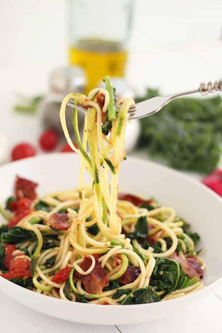 Roasted Tomato Zucchini Pasta