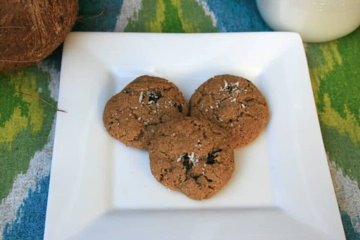 Paleo Almond Butter Cookies with Coconut and Raisins