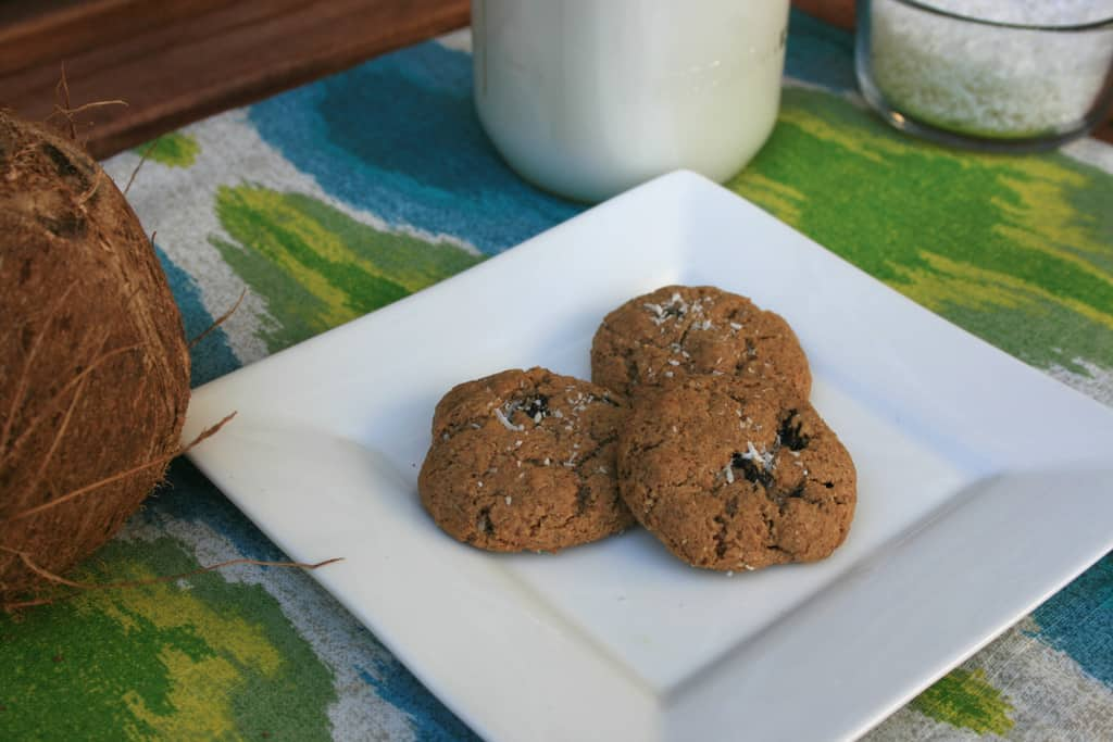 Almond, Coconut and Raisin Cookies