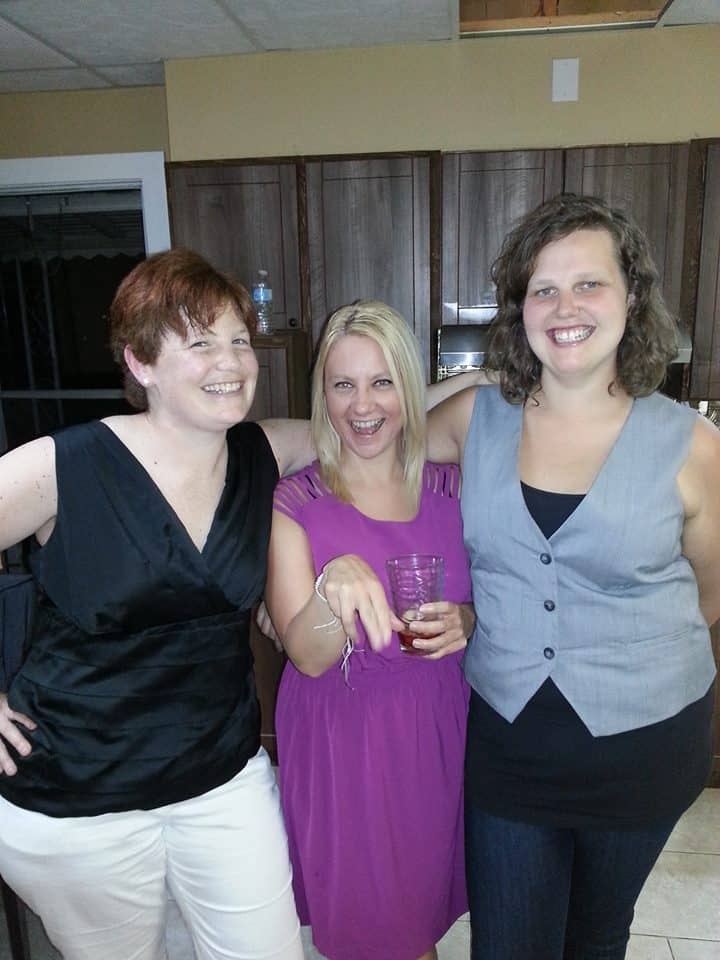 Laurie, myself and our friend Catherine (also from the Low Carb Cruise) at our Canadian Day Weekend Celebration Party.
