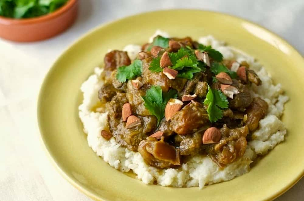 Moroccan Beef with Apricots and Dates