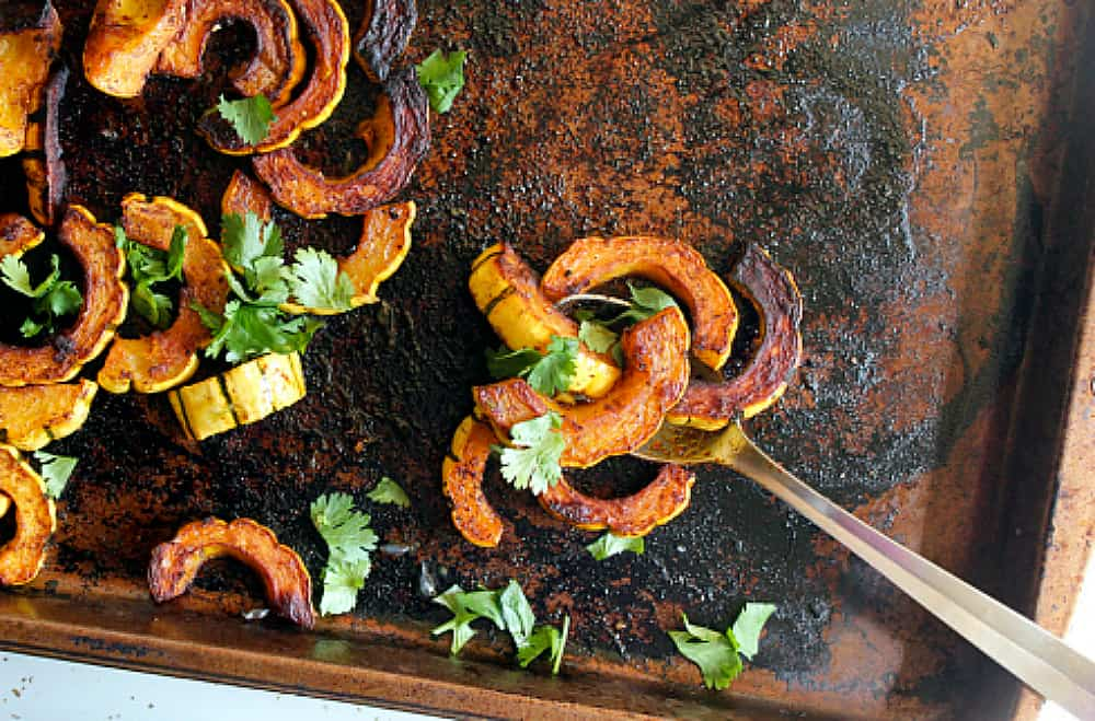 Chipotle Lime Roasted Delicata Squash