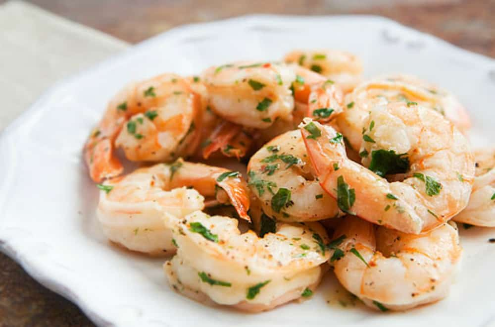 Thai Coriander Garlic Shrimp Scampi