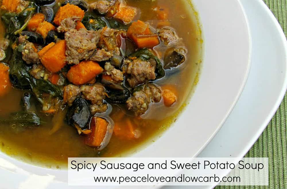 Spicy Sausage Sweet Potato Soup
