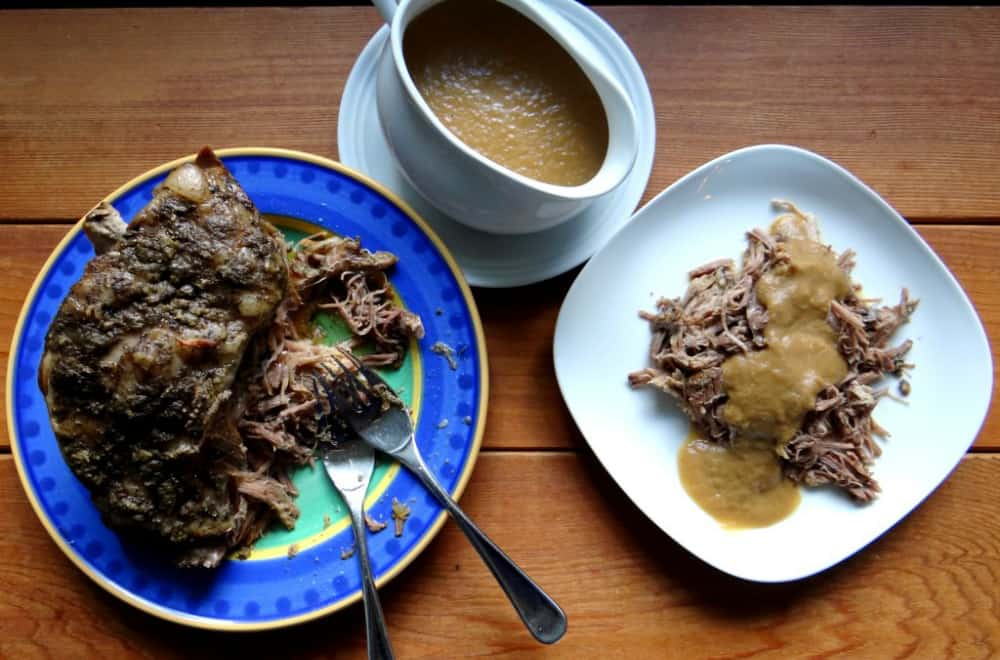 Roast Pork with Onion Apple Gravy