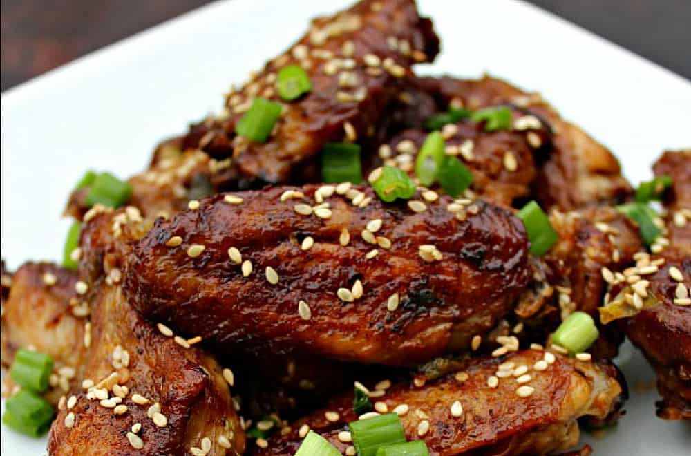 Asian Sesame Crispy Oven Baked Chicken Wings