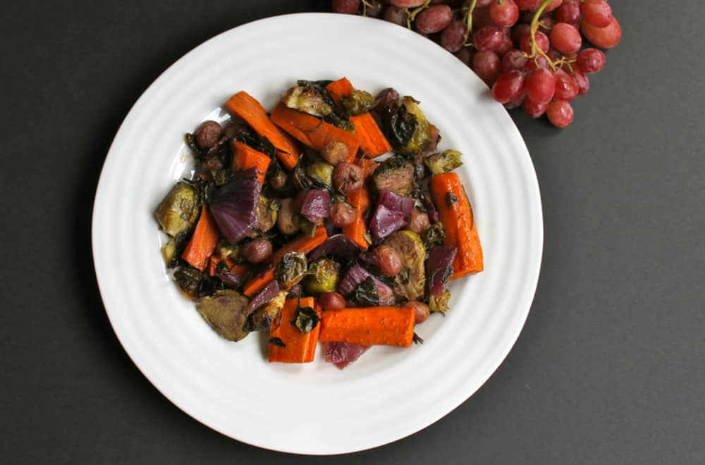 Roasted Fall Vegetables with California Grapes
