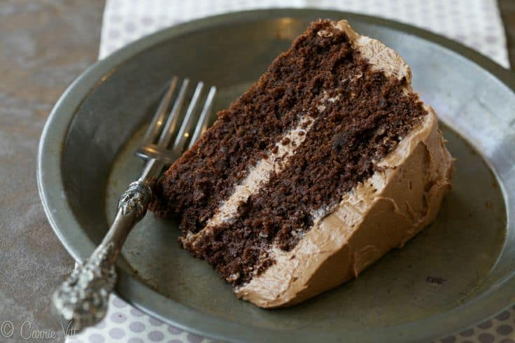 Deliciously Organic - Paleo Chocolate Cake with Buttercream Icing