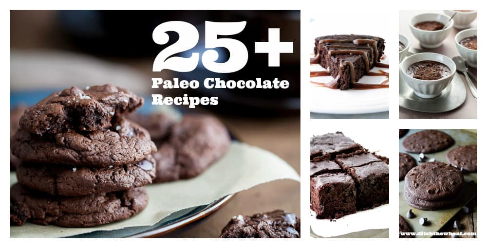 Paleo Chocolate Recipes Collage