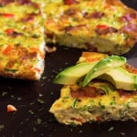 Bacon Zucchini & Red Pepper Frittata