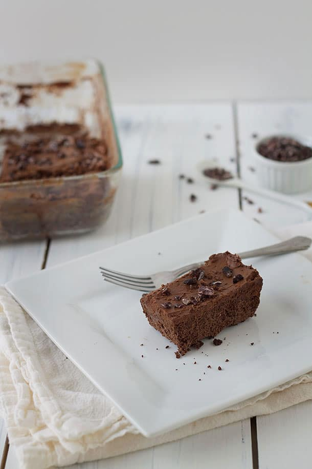 Slim Palate - Paleo Brownie Cake with Buttercream Frosting