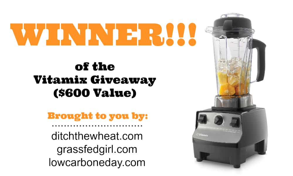 Vitamix Giveaway Winner