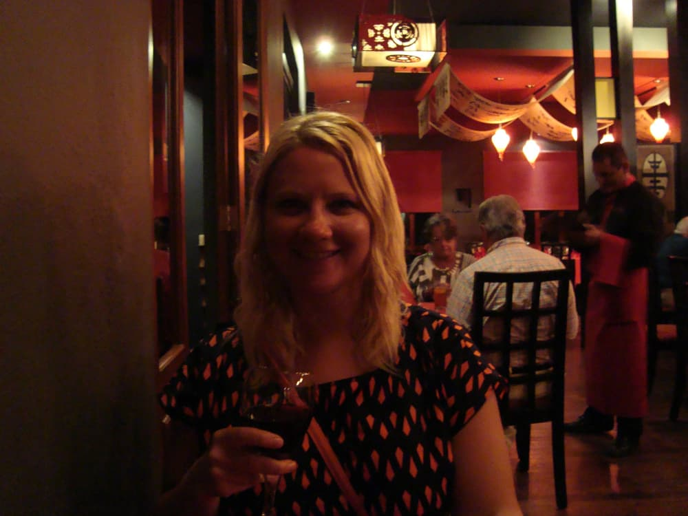 Me dining at my favourite restaurant, the asian one (can't remember the actually name).