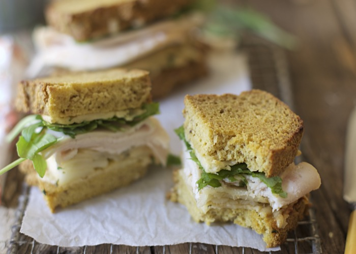 Roasted Turkey & Apple Grilled Cheese Sandwiches