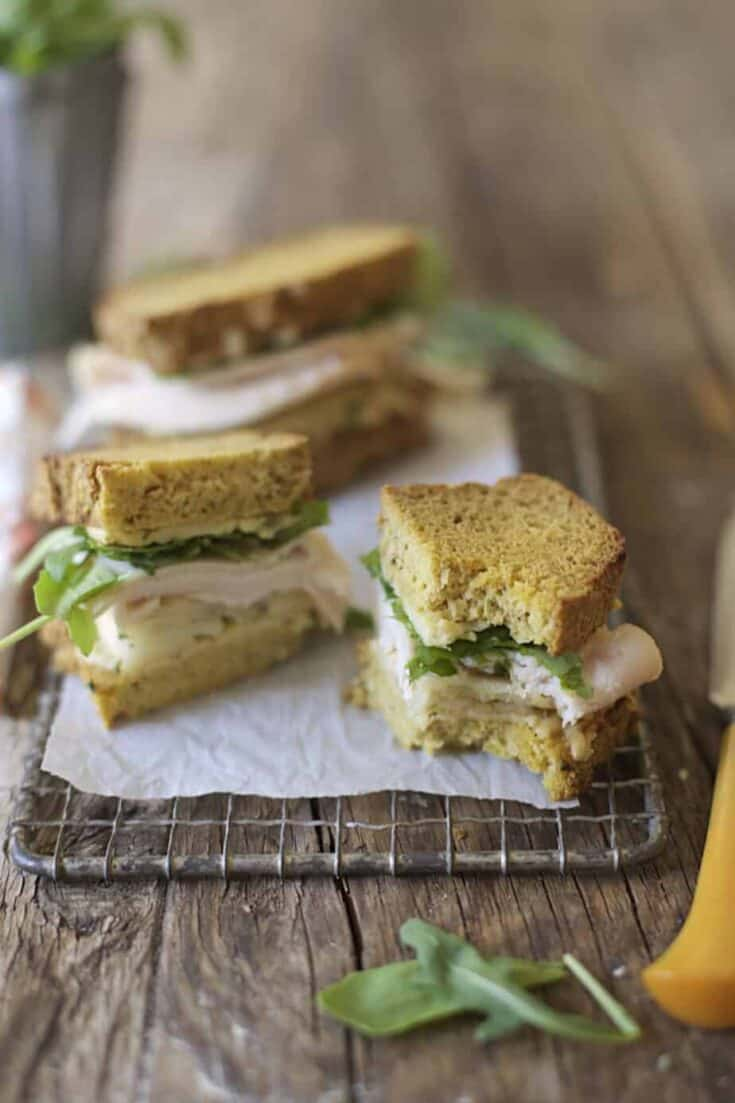 Grain-Free Roasted Turkey & Apple Grilled Cheese Sandwiches