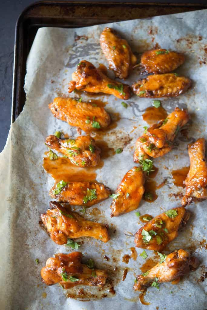Cilantro Maple Sriracha Chicken Wings