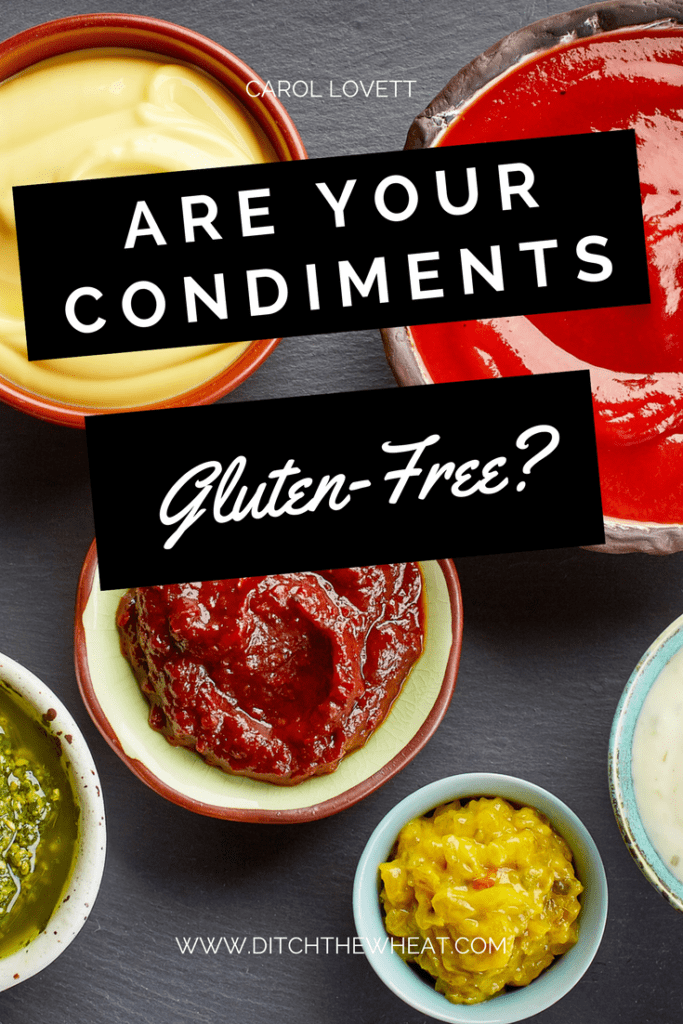 Are your condiments gluten-free