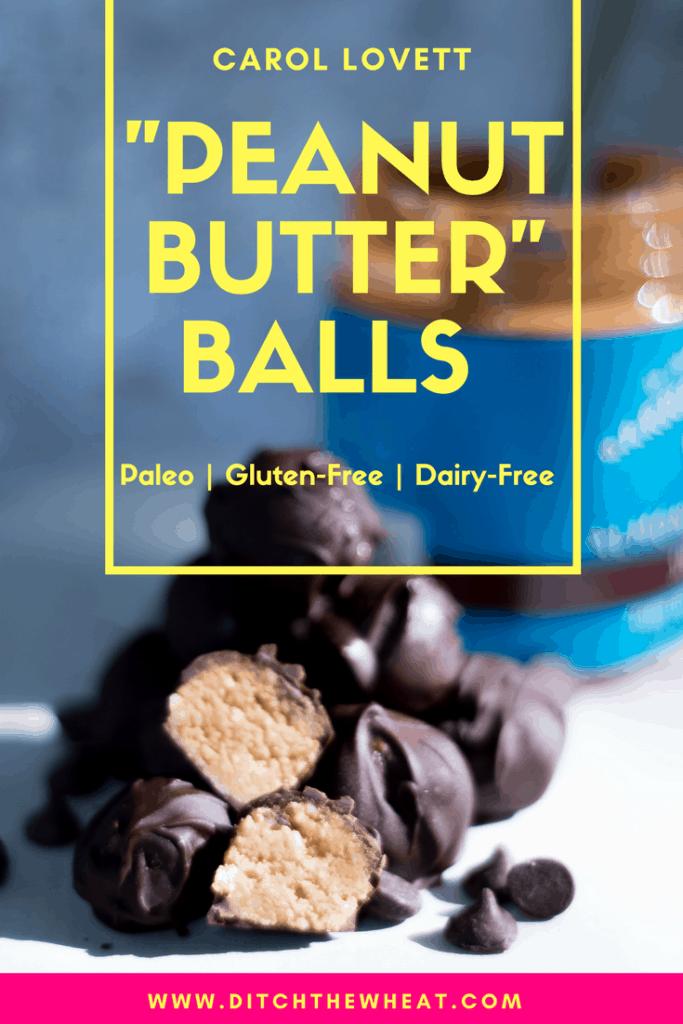 """Peanut Butter"" Balls - Paleo Snack, Gluten-Free Snack, Dairy-Free Snack"
