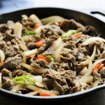 EASY Beef Bulgogi - takeout dinner recipes, gluten free takeout dinner recipes, gluten free korean, paleo korean, beef korean recipes, dinner korean recipes, one dish dinners